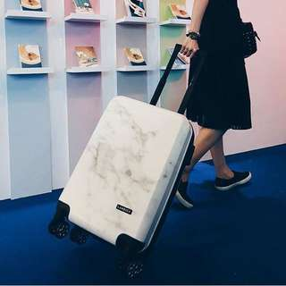 BN Laneige White Marble Cabin Hard Case Luggage