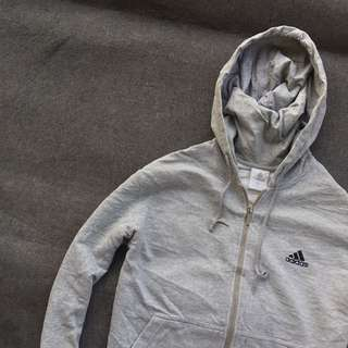 Adidas Basketball Zip Hoodie Grey