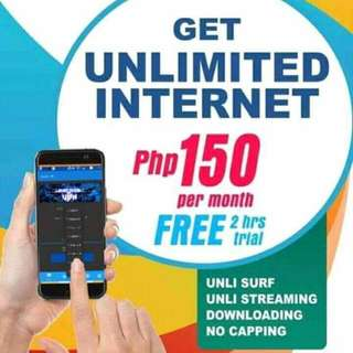Unli Internet 150/month