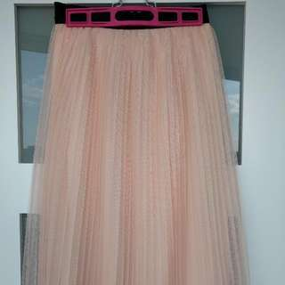 Pink Tulle Skirt, Size Small.