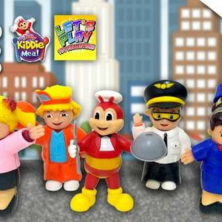 "Jollibee ""Dress & Work""kiddie Meal Toys(sealed) Sold As Set Only"