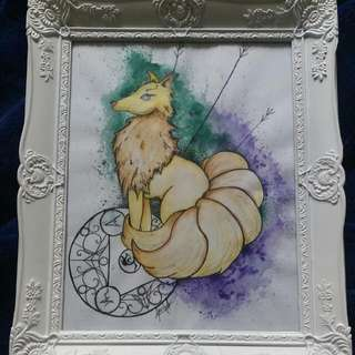 Orginal Ninetails Watercolor