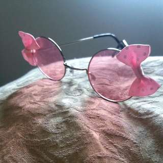 Pink Lennon Bow Glasses