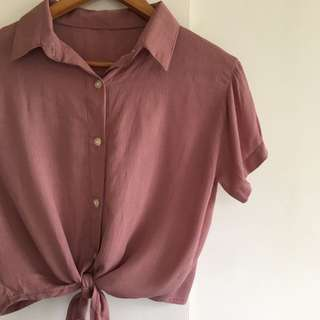 Front Knot Polo (Old Rose)