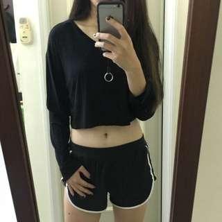 Vii&Co短版棉質寬袖