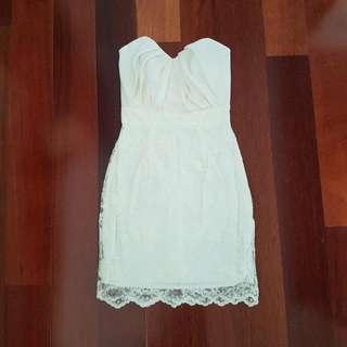 Asos Ivory Lace Dress