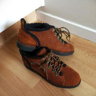 Leather Wool Shoes