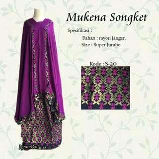 Mukena Songket Ungu