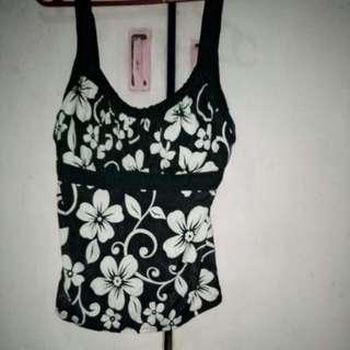 floral black strap