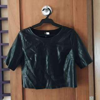 H&M Divided Leather Top