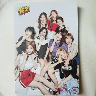 Twice 專輯 Yes card ~ 團體