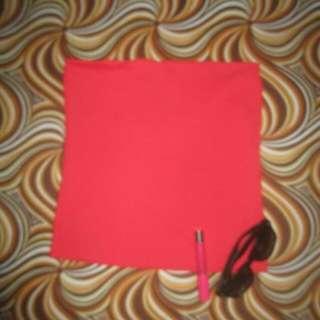 ZARA Basics Spandex Red Tube