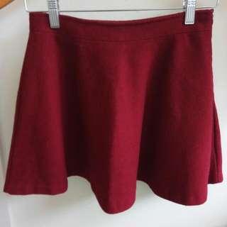 Burgundy Red Skirt (S)