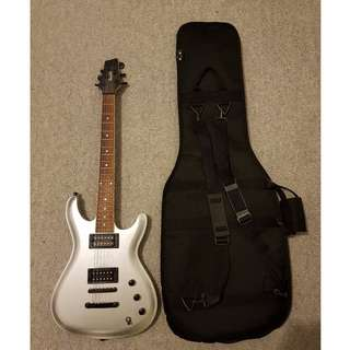 Ibanez GIO GSZ120 Electric Guitar (Silver) + Carry Case