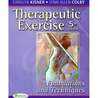 Therapeutic Exercise - Foundations and Techniques 5th Edition Ebook