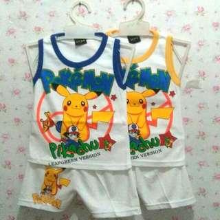 Set Anak Motif Pokemon