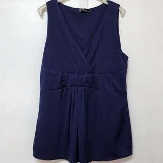 Dark Blue BCBL Sleeveless Blouse (US)