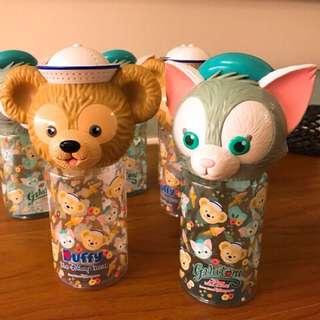 現貨❤️特價! Disney迪士尼 達菲、畫家貓 大頭水壺~香港迪士尼
