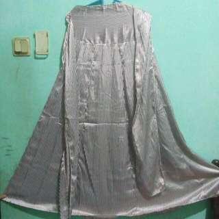 Dress Strip Putih Coklat