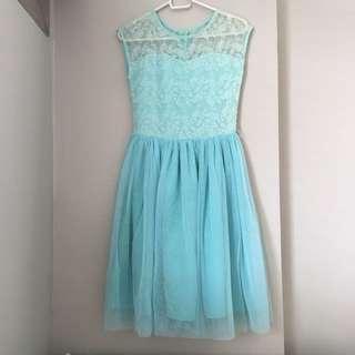 Blue Lace Gown / Long Dress