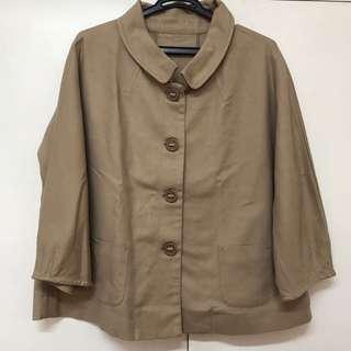 Light Brown Office Blazer / Light Travel Coat