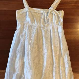 Review Size 8 Casual Dress. White Dress. Review Dress.