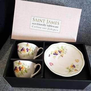 Saint James Eco-friendly Tableware Coffee Set 2 (4) pcs - Cangkir Kopi/Teh