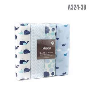 Blue Whales Blanket 4 in 1 Pack