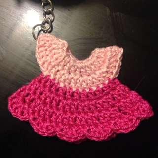 Crocheted Keychain Dress Souvenir