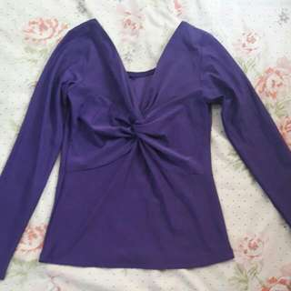 prelove shirt long sleeve purple s/m