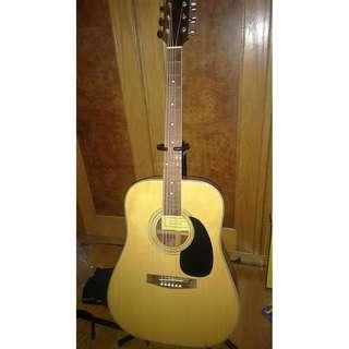 (本月限時降價商品,外加一包Elixir吉他弦)單板民謠吉他kawasaki知名川崎吉他