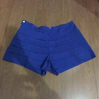 celana jrep pendek biru