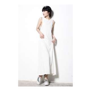Young Hungry Free YHF Get Low Maxi Dress In White Size M