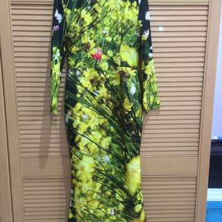 (REPRICED) Dress With Digital Printing