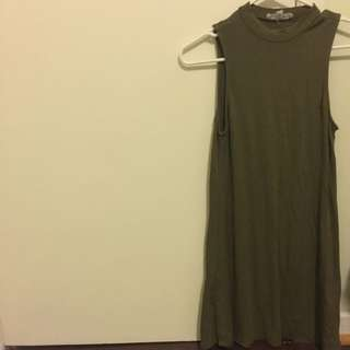 Small Olive Green Summer Dress