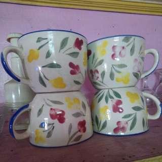 4pcs Ceramic Big Cup