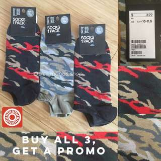 H&M Camouflage Ankle Socks