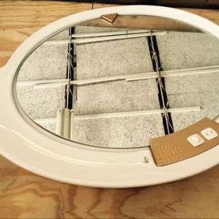 水滴狀 陶瓷壁鏡 衛浴鏡 除霧 老件 庫存新品