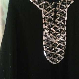 Black Beads Kurung