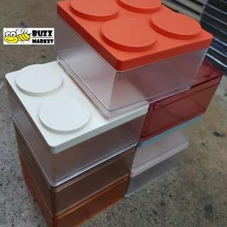 Lego Style Blocks Stackable Cases