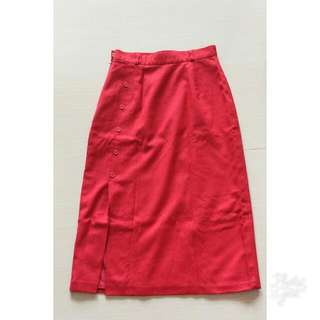Hot Red Skirt #mauthr