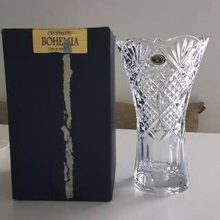Crystal / Glass Vase - Crystalite Bohemia Czech Republic
