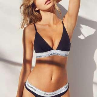 """Calvin Klein """"Triangle Bra and Underwear"""" Set"""