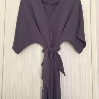 SALE! Dark Grey Kimono Style Dress