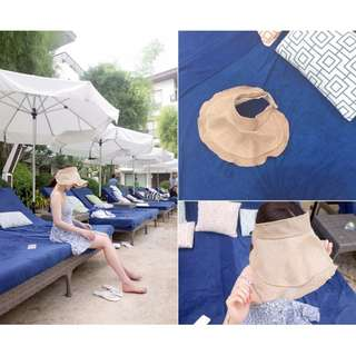M SELECT 韓版夏日必備超美遮陽帽防曬遮陽帽戶外防紫外線太陽帽子女沙灘帽可折疊