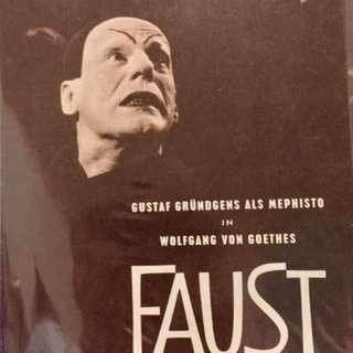 "FAUST (1960) German Film 8-page Program 7.25"" x 10.5"""