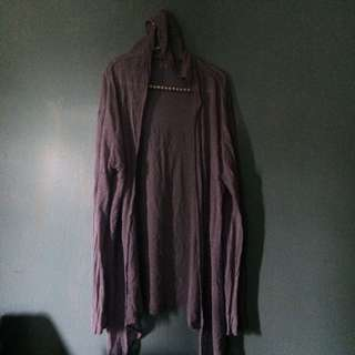 Plus Size Cardigan With Hood