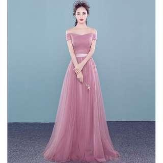 Off Shoulder Tulle Bridal Gown