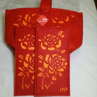 Felt Red Packet And Carrier Bag