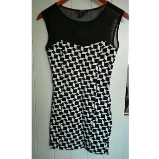 Forever21 Dress Black And White - Size US Small